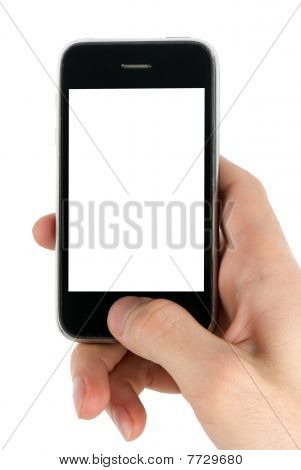Mobile Phone In Man Hand