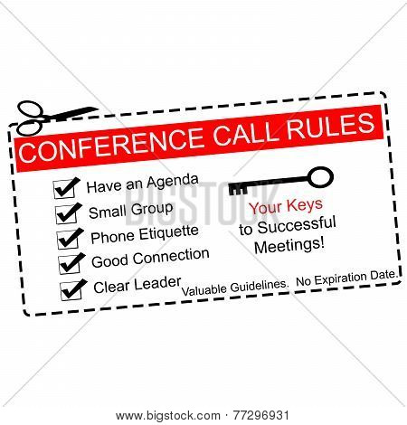 Red Conference Call Rules Coupon