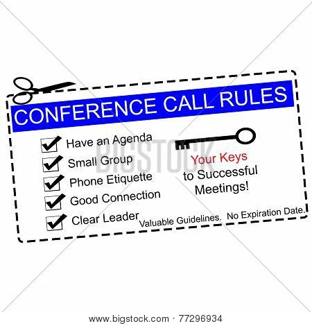 Blue Conference Call Rules Coupon