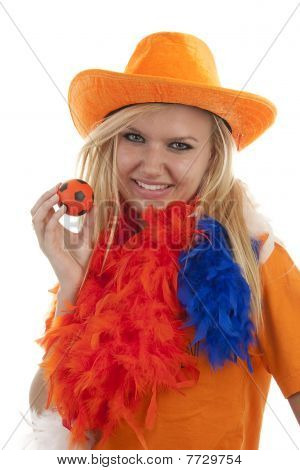 Female Dutch Soccer Fan