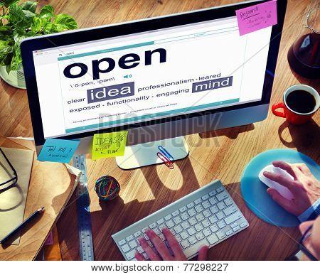 Business Online Idea Open Office Working Concept