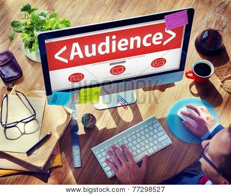 Digital Online Audience Public Group of People Concept