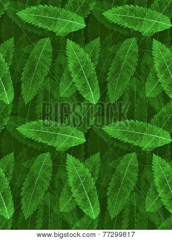 green leaf skeleton seamless background