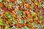 foto of eatables  - Colorful small sweet sugar sticks - JPG
