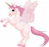 picture of unicorn  - Illustration of beautiful pink Unicorn Pegasus - JPG