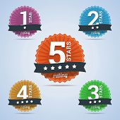 pic of star shape  - Rating badges from one to five stars - JPG