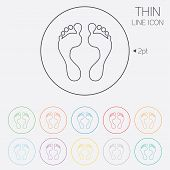 foto of barefoot  - Human footprint sign icon - JPG