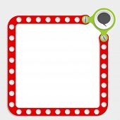 picture of bubble sheet  - red frame for any text with screws and speech bubble Vector - JPG