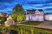 picture of fortified wall  - Fortified medieval wall of city Vannes Brittany France - JPG