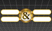 stock photo of ampersand  - four frame for any text with ampersand - JPG