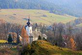 image of pieniny  - View of the Church in Jaworki Pieniny Poland - JPG