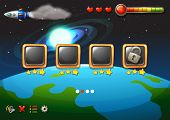 pic of outerspace  - A video game showing the outerspace - JPG