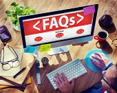 pic of faq  - Digital Online FAQs Community Office Working Concept - JPG
