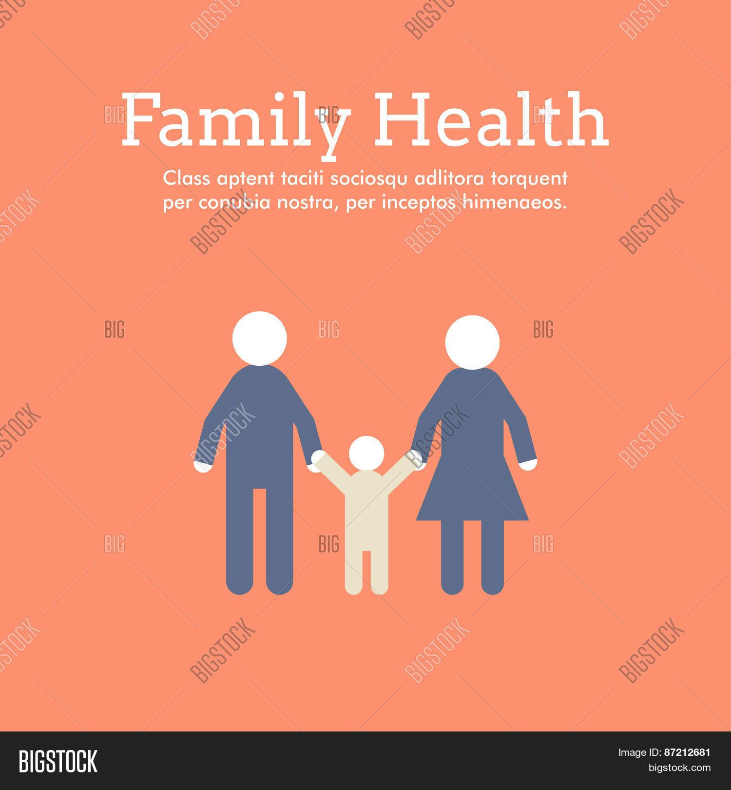 Poster design health - World Health Day Celebrating Card Or Poster Design Family Health Flat Design