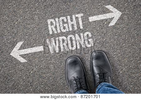 Decision At A Crossroad - Right Or Wrong