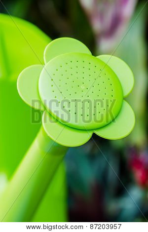 Closeup Green Watering Can