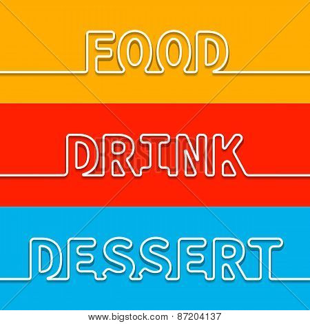 Set of menu element template for restaurant and cafe. Vector