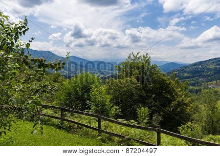 Safety Fence In The Pyrenees In Boussenac