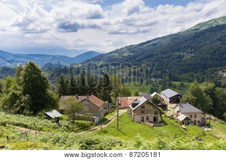 Little Community In The Pyrenees In Boussenac