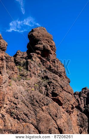 Volcanic Rock Basaltic Formation in Gran Canaria