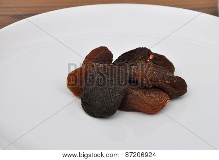 Apricots On Plate