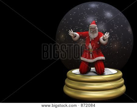 Santa Trapped in Snow Globe 2