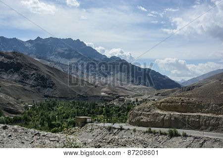 Scenic View Of Himalaya In Summer