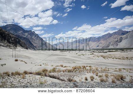 Desert Of Nubra Valley At Ladakh, India