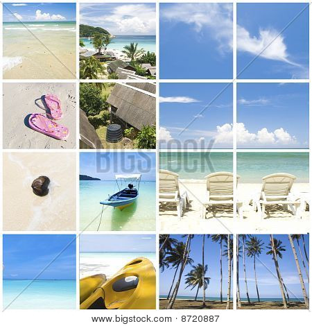 Collage Beach Photo