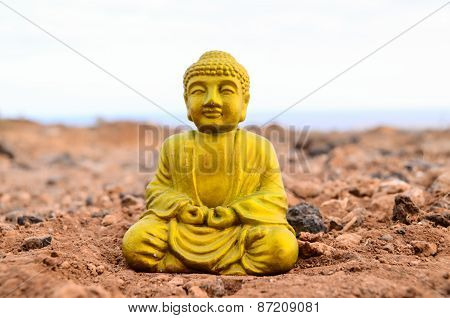 One Ancient Buddha Statue