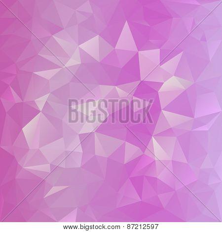 Vector Polygonal Background Pattern - Triangular Design In Sweet Pink C
