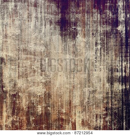 Grunge background with vintage and retro design elements. With different color patterns: yellow (beige); brown; gray; black