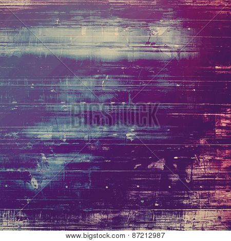 Designed grunge texture or background. With different color patterns: gray; blue; purple (violet)