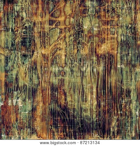 Old, grunge background texture. With different color patterns: yellow (beige); brown; green