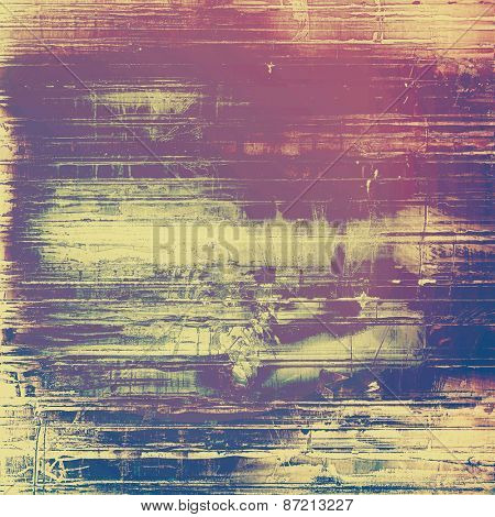 Old texture with delicate abstract pattern as grunge background. With different color patterns: yellow (beige); brown; purple (violet); pink