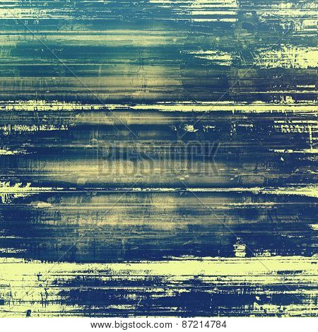 Old grunge antique texture. With different color patterns: yellow (beige); blue; green