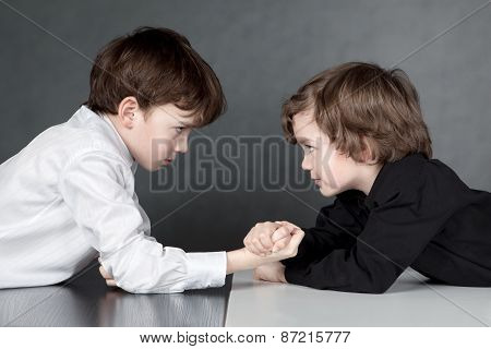 Two Boys Looking At Each Other