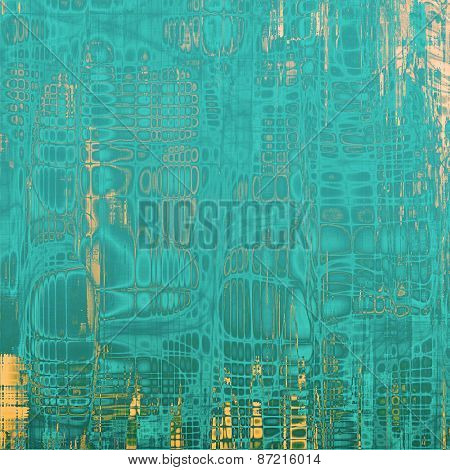 Antique vintage textured background. With different color patterns: yellow (beige); blue; cyan