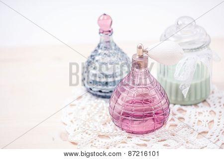 Two glass bottles