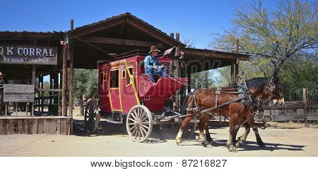 A Stagecoach Of Old Tucson, Tucson, Arizona