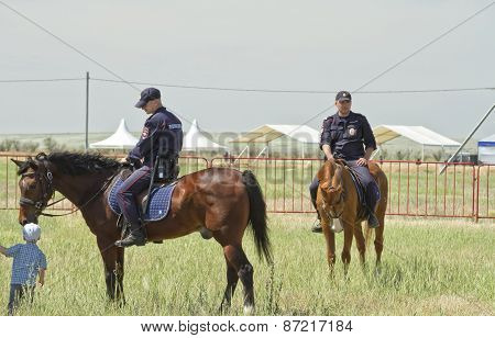 Detachment of mounted police on duty during