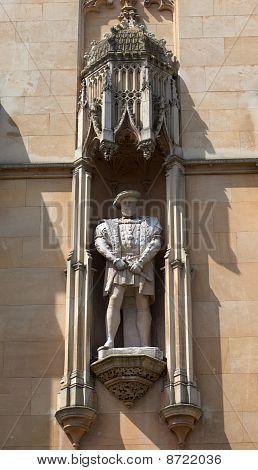 The Facade Of Kings College. Cambridge. Uk.