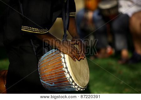 Traditional African Drummer.
