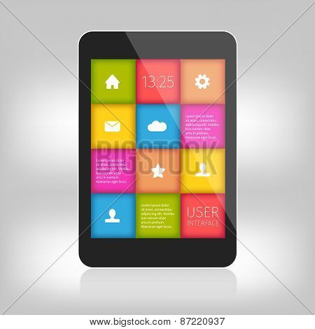 colorful design for mobile and tablet