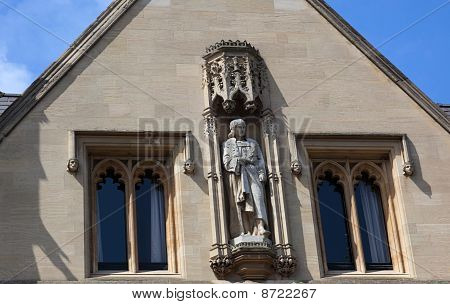 Facade Of Kings College. Cambridge. Uk