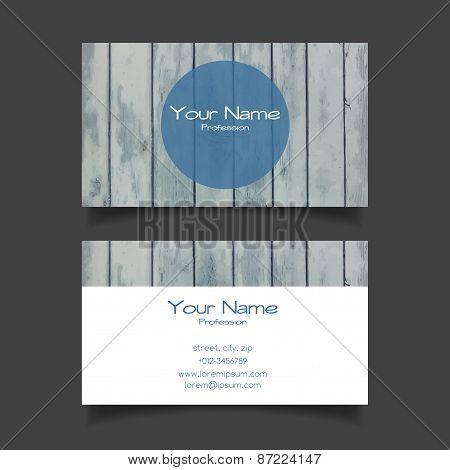 Business card vector modern template