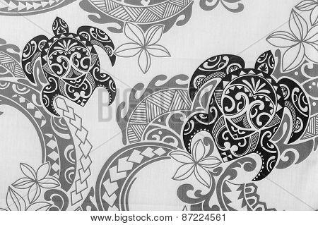 Turtles on Jungle print background