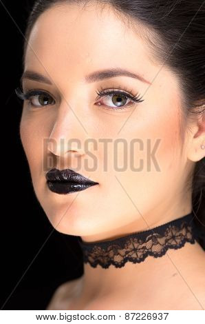 young gothic beautiful woman