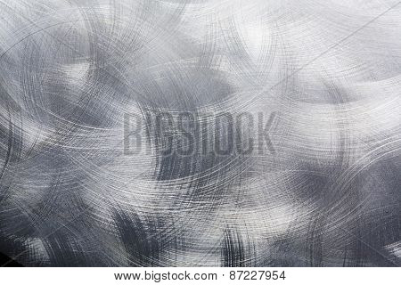 Circular brushed metal background