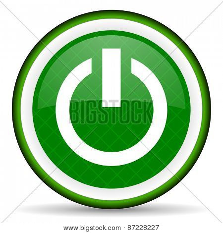 power green icon on off sign